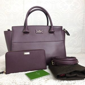 🌸OFFERS?🌸Kate Spade Leather Burgundy Set